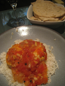 Chicken with Tomatoes and Garam Masala